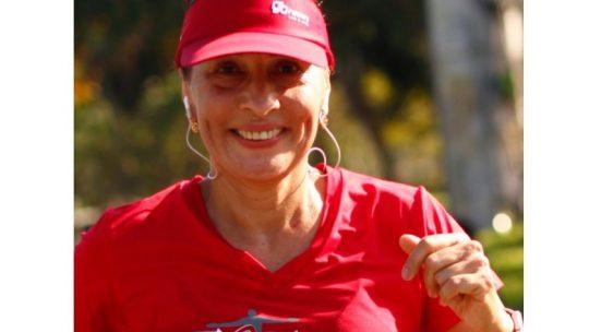 Com a Go Runners, Cláudia Macedo treina forte para duas meias em 2020